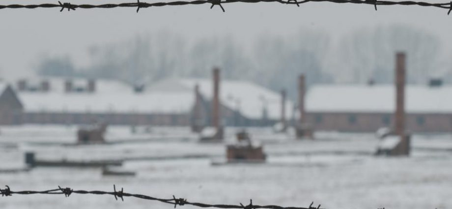 A view of Auschwitz II-Birkenau, a German Nazi concentration and extermination camp