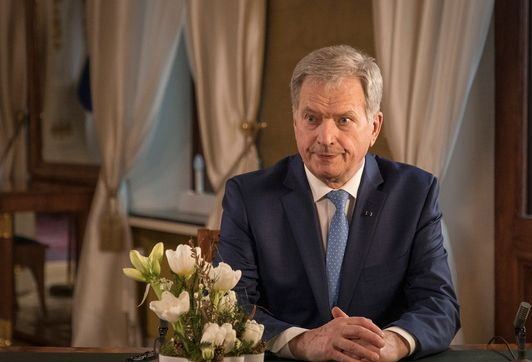 Sauli Niinistö delivered the president's traditional New Year's address on Friday