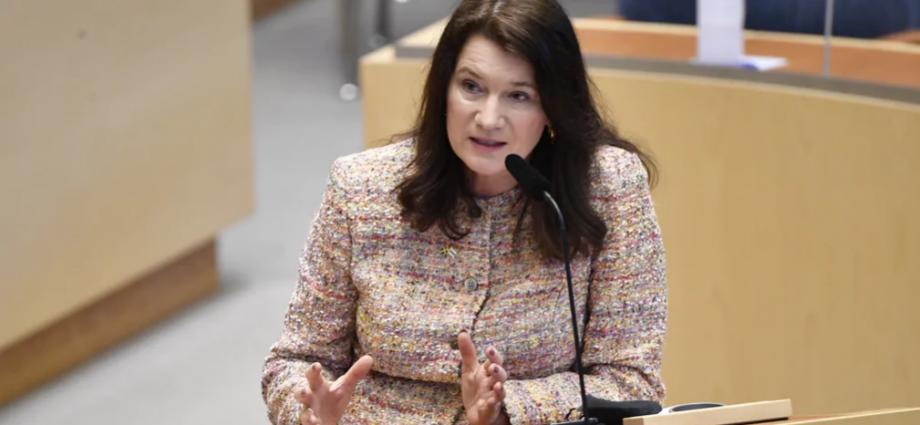 Utrikesminister Ann Linde (S) under den utrikespolitiska debatten i riksdagen