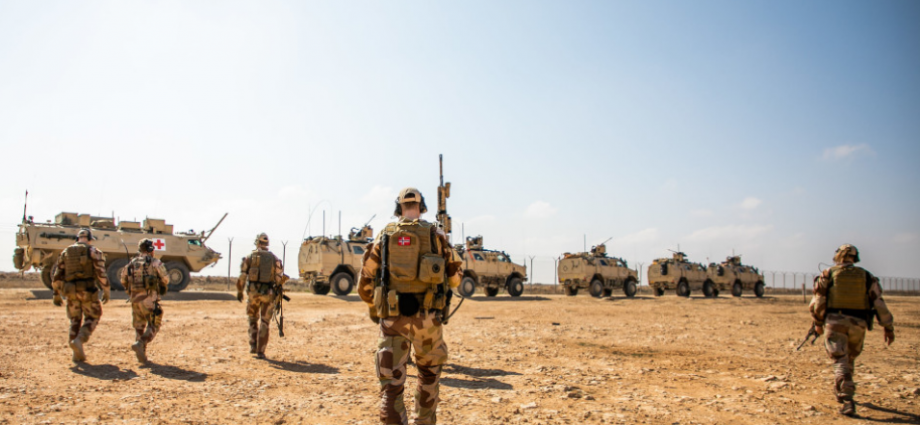 Soldater fra Nortu 5 i Al assad Air Base i Irak