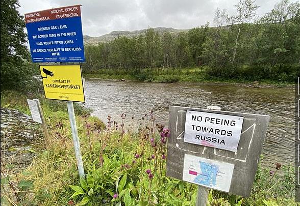 Norwegians face £250 fine for urinating towards Russia